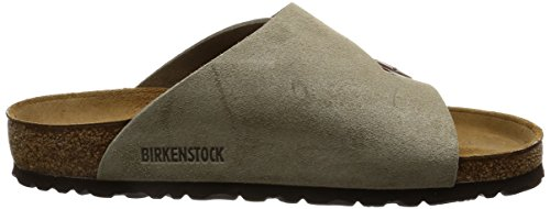 Birkenstock Classic ZUERICH VL Unisex-Erwachsene Pantoletten Grau (Taupe)