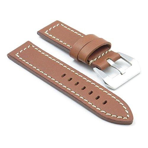 dassari-bentley-bande-pour-montre-en-cuir-rouille-piqu-blanc-pour-panerai-26-26-26mm