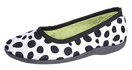 SleepersAva - Pantofole donna Black/White