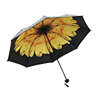 Windproof Waterproof Compact Folding Floral Flowers Umbrella Parasol Anti UV Sun Rain