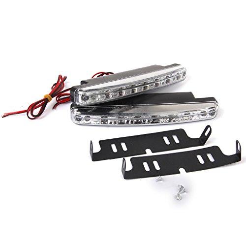 2x 8 LED Weisses Auto Fernscheinwerfer Nebel 12V 24V Wasserdichte (Maschine Nebel Auto)