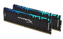 HyperX Predator HX432C16PB3AK2/16 Memoria DDR4 16 GB, Kit da 2x8 GB, 3200MHz CL16 DIMM XMP RGB