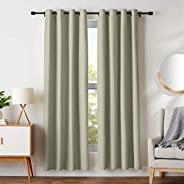 "AmazonBasics Room - Darkening Blackout Curtain Set with Grommets - 245 GSM - 52"" x 84&qu"