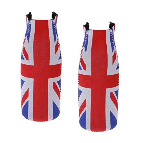 Sharplace 2 Unids Gran Britania Bandetas de Reino Unido Botellas de Cerveza Bebidas Recipiente Favores de Celebración