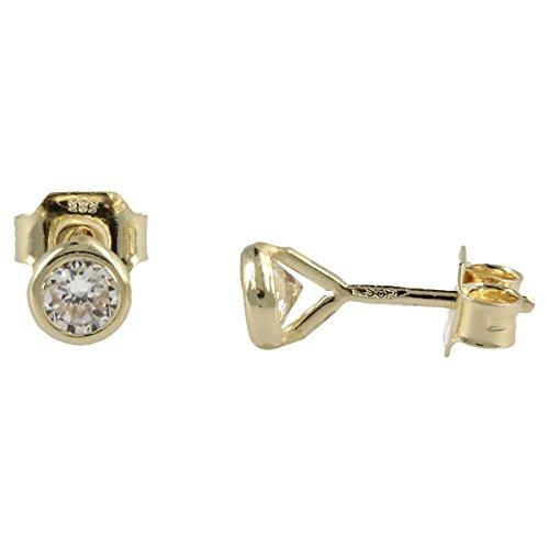 Orecchini punto luce in oro giallo 14kt - Gioiello Italiano