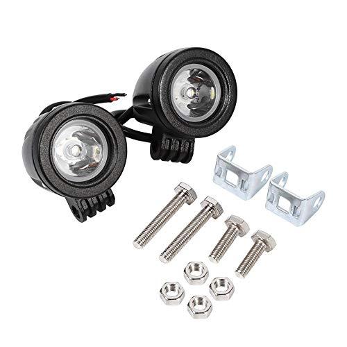 Faro da lavoro a LED per motocicli, 2Pcs 10W Ad alta potenza Universale Impermeabile Ausiliaria Off Road Moto Driving Fendinebbia Faretti F