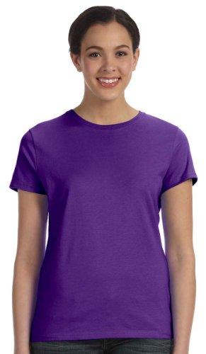Hanes Silber Damen-Klassische Passform ringgesponnene Baumwolle Jersey Tee Violett - Violett