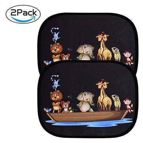 astarye 2pcs Parasol de Coche Infantil Lateral UV Protección Ventana de Techo Autoadhesivos para Niños Bebés y Mascotas