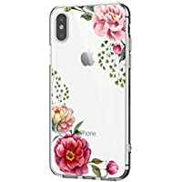 for iPhone XS Hülle, iPhone XS Max/iPhone Xr Hüllel Clear Handyhülle TPU Silikon Backcover Case Blossom Blühen Blumen Flower Muster Schutz HandyHülle Tasche Hülle für iPhone XS