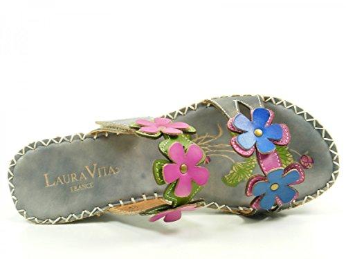Laura Vita SH602-6 Vanna Schuhe Damen Pantoletten Grau
