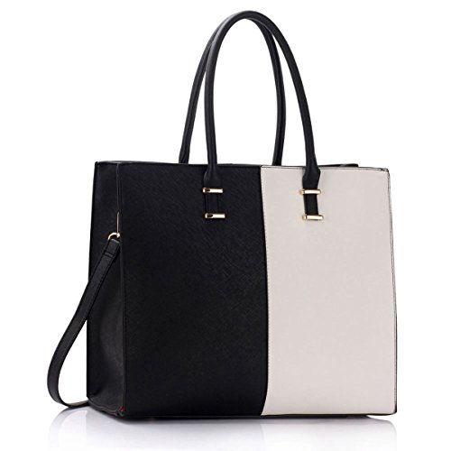 Xardi London, Borsa tote donna large Black/White
