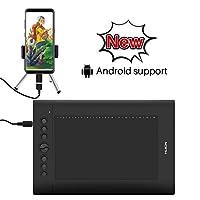 HUION Drawing Tablet H610PRO V2 8192 Pen Pressure Tilt Function Battery-Free Stylus for Android Windows macOS (H610PRO V2 OTG)