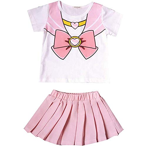 Moon Girl Sailor Kostüm - Sweet grape Acccity Halloween Baby Girl Sailor Moon Anime Cosplay Costume Skirt 6M