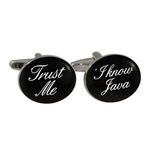 Trust Me I Know Java Manschettenknöpfe in Geschenkbox
