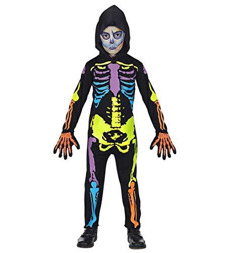 (Checklife buntes Kinderkostüm Skelett Jungen Mädchen Dämon Skelett Halloweenkostüm Kinder Gr. 116 - 158 (Gr. 140 / 8-10 Jahre))