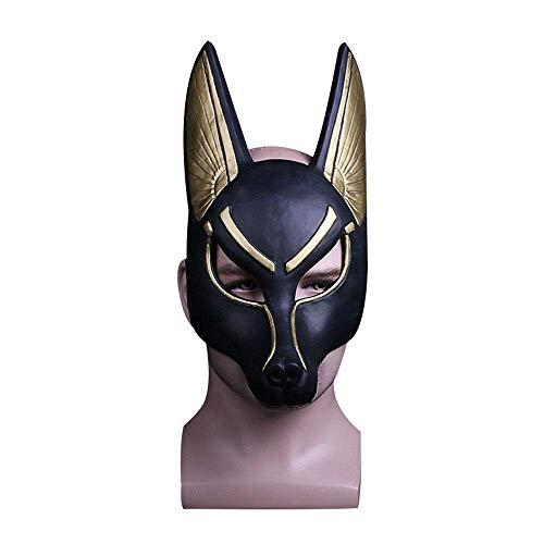 YaPin Ägyptischer Patron Gott, der Gott des Todes, Anubis Maske Cos Maskerade Tanzmaske Leistung