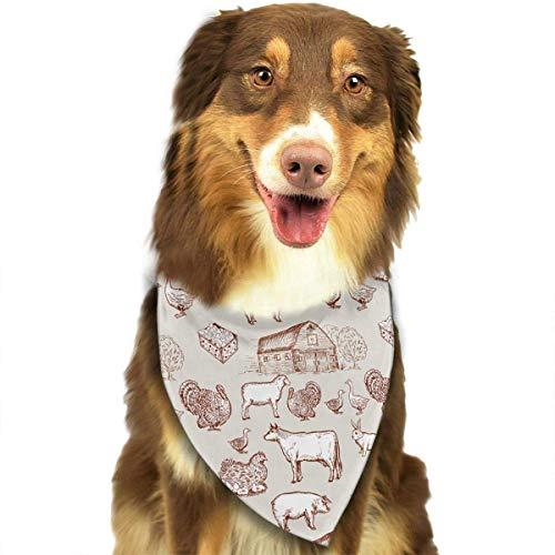 Arizona Girls Top (Wfispiy Vieh-Muster-weiche Baumwollklassische Tiere Bandana-Haustier-Hundekatze-Dreieck-Lätzchen)