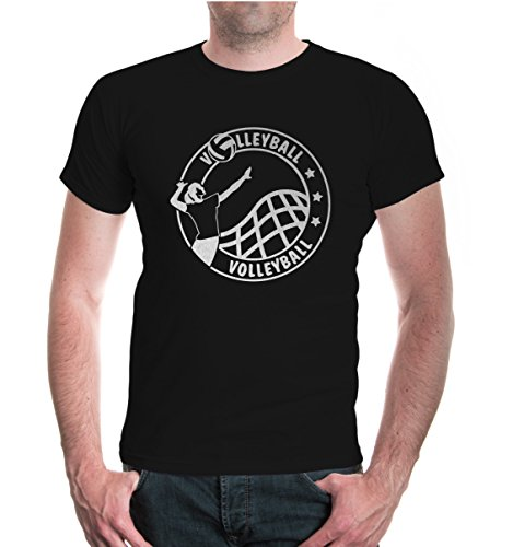 buXsbaum® T-Shirt Volleyball-Stamp Black-Silver