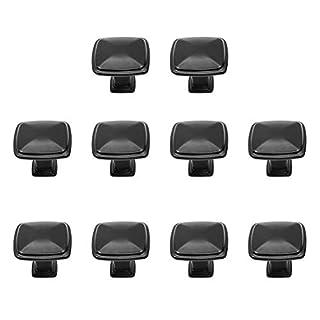Yardwe 10 STÜCKE Schwarz SchränkeKnöpfe für Schubladen Griff Schrank Schublade Mit Schrauben Vintage Kommoden Knöpfe für Küchenschrank Möbel Griffe küche (Platz)