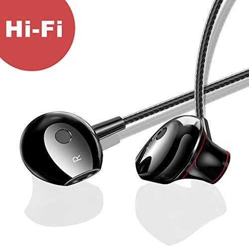 IceFrog In Ear Kopfhörer Stereo Ohrhörer inklusive Mikrofon für iOS- und Android-Geräte usw mit 3.5mm Klinkenstecker Schwarz