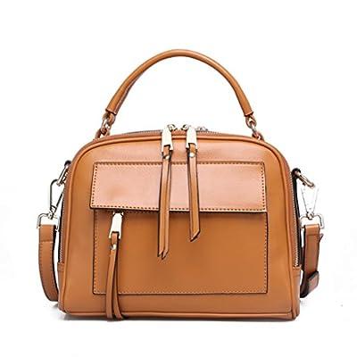 Carrés de cuir de vachette Sac à main en cuir petit sac bandoulière Messenger Bag