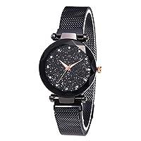 Lilon Mode Dames Horloges Sterrenhemel Magneet Gesp Wijzerplaat Quartz Gesimuleerde Diamanten Armband Horloge Cadeau voor vriendin