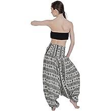 Pantalones de harén Alibaba de la India danza pantalones de yoga pantalones hippie Boho mujeres desgaste playa fiesta Mono Aakriti galería