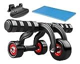 popsky Trotinette 3 roues triangulaire AB Roller avec genouillères et sol Bouchon, corps de fitness Formation Machine AB de Sport de roue outil ; Prise en charge 500 IB