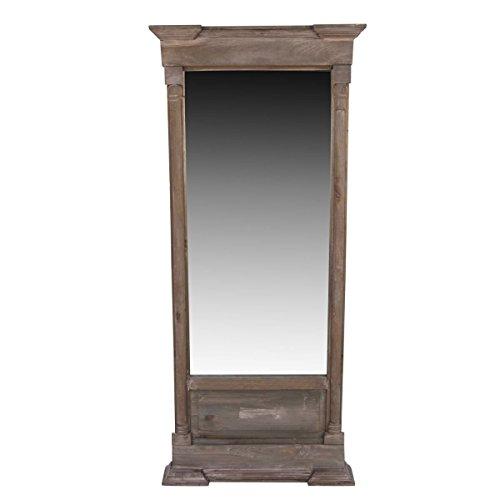 GRAND MIROIR ANCIEN RECTANGULAIRE VERTICAL BOIS 59x11x136cm