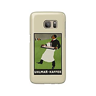 Uhlman - Kaffee Vintage Poster (artist: Waidenschlager) c. 1905 (Galaxy S7 Cell Phone Case, Slim Barely There)
