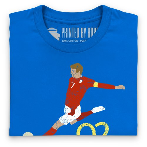 Football Icons Japan 2002 T-Shirt, Herren Royalblau