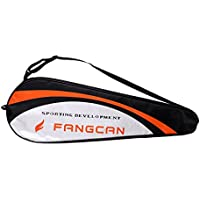 NON Sharplace 1 Unidad de Suave Cubierta de Raquetas de Bádminton Tenis Hecho de Material Poliéster Colores Opcionales - Negro+Plata