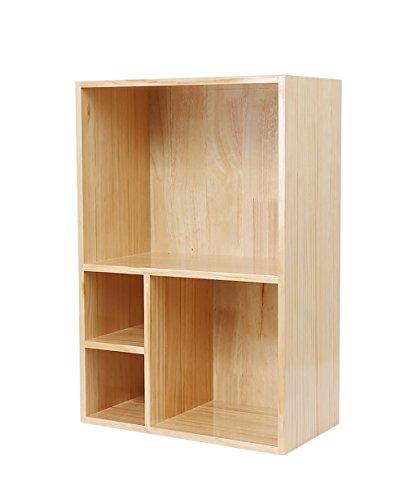 Massivholz Bücherregal Kleines Bücherregal Schreibtisch Regale Lagergestell, 4 Styles sind verfügbar ( größe : 40*22*60cm-D )