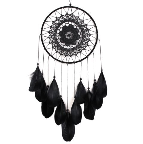 URGrace 1 Stücke Weiß / Schwarz Feder Geschenk Antike Nachahmung Dreamcatcher Dream Catcher Net Naturfedern Wandbehang Dekoration Ornament