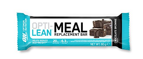 Optimum Nutrition Opti-Lean Chocolate Brownie Meal Replacement Bar, 60 g, Pack of 12