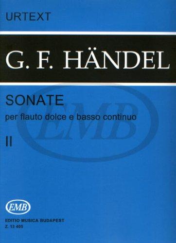 Sonate per flauto dolce e basso continuo 2 (Urtext)