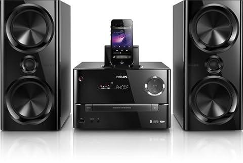 Philips DTM3170/12 Mini-Stereoanlage mit Bluetooth (Lightning-Connector, 150 Watt RMS, USB) inkl. All-in-One-Fernbedienung (150w Lautsprecher-auswahl)