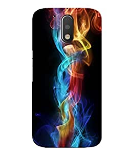 Citydreamz Colorful Smoke Hard Polycarbonate Designer Back Case Cover For Motorola Moto G4 (4th Gen.)