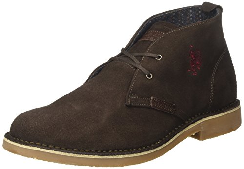 U.S. Polo Assn. Amadeus13 Suede, Polacchine Uomo, Marrone (Dark Brown), 41 EU