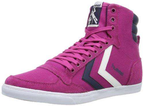 hummel HUMMEL SLIMMER STADIL HIGH, Sneaker donna, Pink (RASPBERRY/BLACK), 37