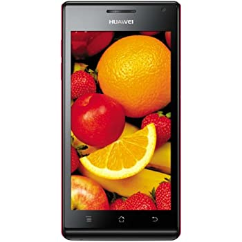 Huawei Ascend P1 Smartphone (10,9 cm (4,3 Zoll) Touchscreen, 8-Megapixel-Kamera, 4 GB Interner Speicher, Android 4.0.3) rot