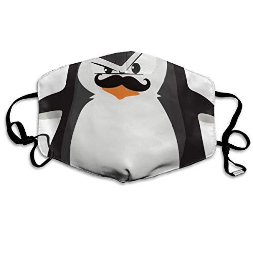 Anti-Allergien Anti-Allergie Ohrschlaufen Halbgesichtsmaske Atemschutzmaske Laufen Winddicht Polyester Verstellbarer elastischer Gurt niedlicher lustiger Pinguin mit Schnurrbart