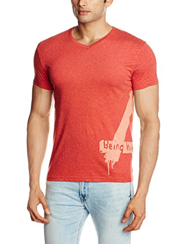 Being Human Men's Cotton T-Shirt (8903861255997_BHTS6038_Large_Red)