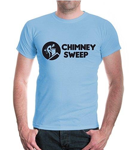 buXsbaum® T-Shirt Chimney Sweep Skyblue-Black