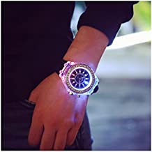 relojes de hombre deportivos relojes de mujer baratos, Sannysis Relojes deportivos de pulsera de cuarzo resistente al agua con TPU correas - Luz de fondo LED - banda de silicona (Negro)