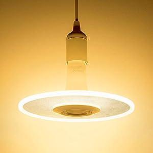 Sternwolk LED Pendel Leuchte, Linkind 11W Lampebirne(Kabel-Fassung nicht inkl.), 1100lm warmweiß Hängende Beleuchtung, Geeignet für E27 Fassung, ideal Designerlampe für Küche, Esstisch, Wohnzimmer, Laden.