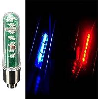 MaMaison007 Valve 7LED della rotella della gomma della bicicletta pneumatico doppio senso LED Lettera Luce