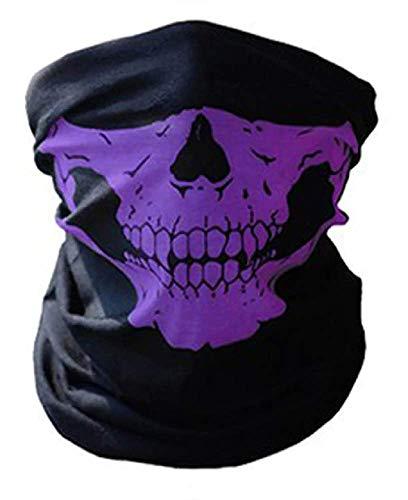 Inception Pro Infinite Sturmhaube - Totenkopf - Halbmond - Radfahrer - Sport - Elastisch - Maske - Halloween - Cosplay - Verkleidung - Karneval - Einheitsgröße violett