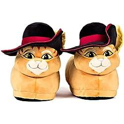 Sleeper'z – Zapatillas de casa El gato con botas originales - Shrek - Adultos y Niños - Hombre y Mujer – L