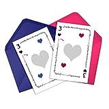 """Duo de cartes à gratter""""Veux-tu être ma Marraine"""" -""""Veux-tu être mon Parrain"""" annonce grossesse"""